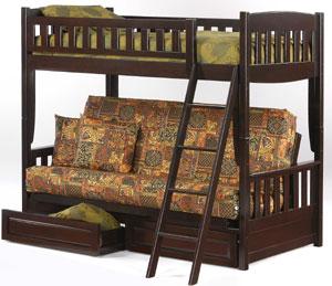 cinnamon bunk bed futons futon covers futon frames futon mattresses at      rh   goodnightmoonfuton