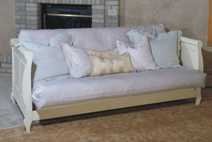 Adriana Futon Daybed Frame In Antique White