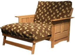 Manchester Futon Frame In Twin Loveseat Size